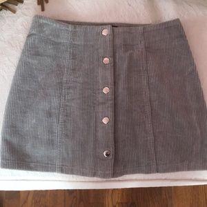 Forever 21 Grey Corduroy Skirt